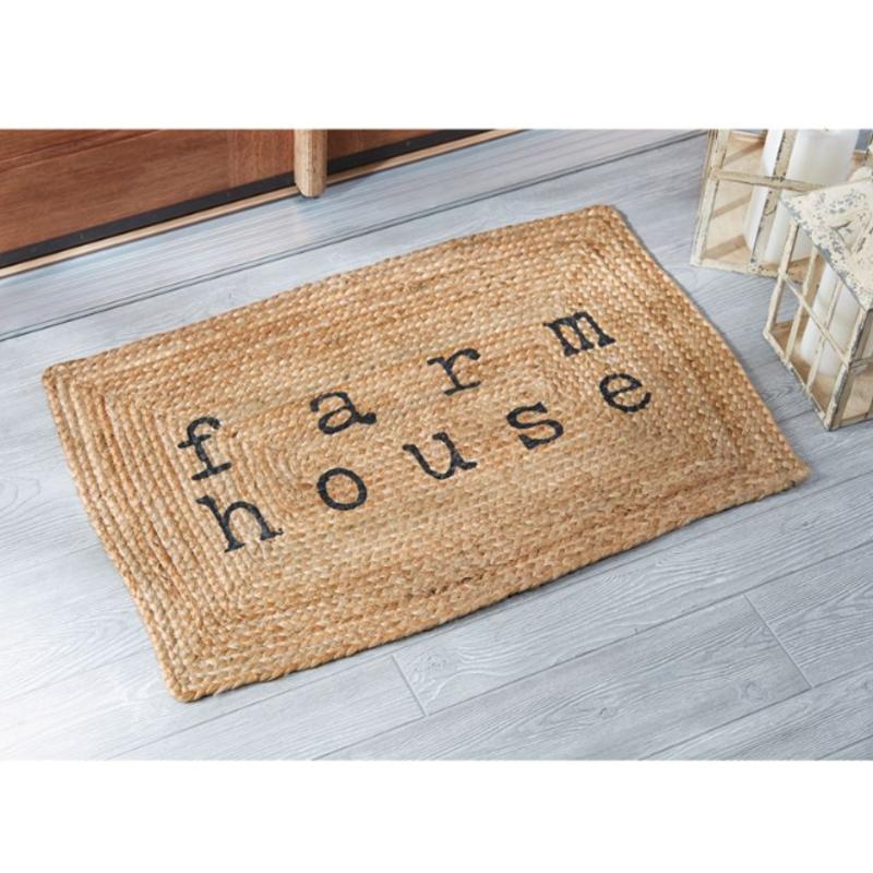 Mud Pie Farmhouse Jute Doormat