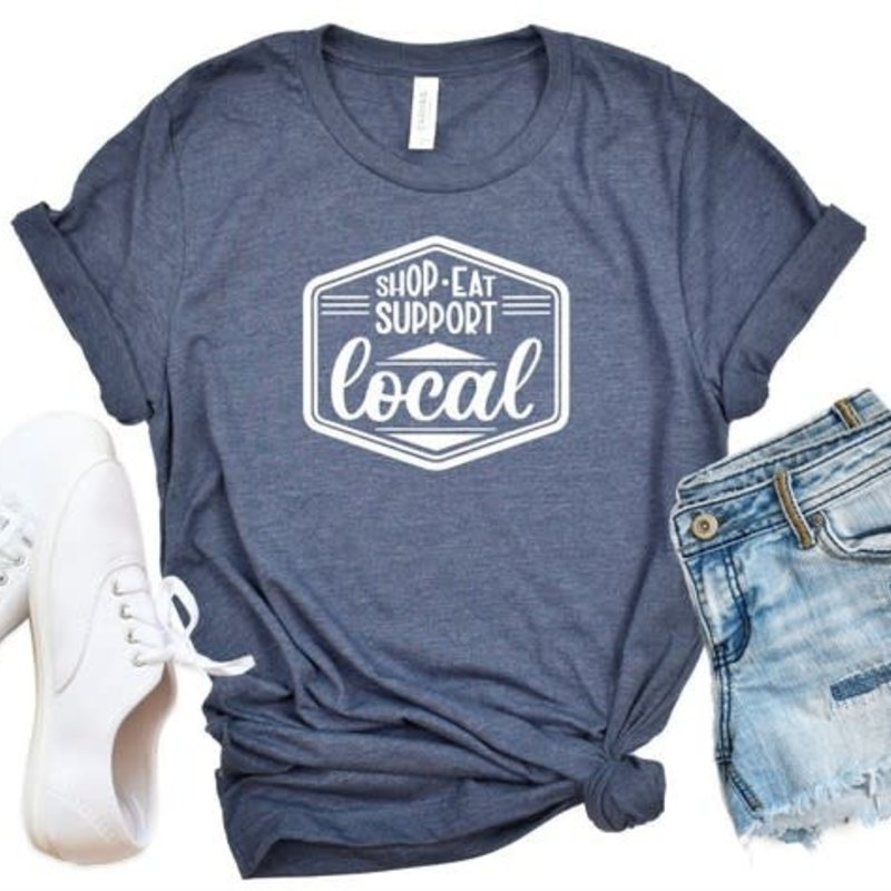 Bella Canvas Navy Support Local Tee (XS-XL)