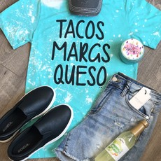 Bella Canvas Tacos Margs Queso Bleached Tee (S-3XL)