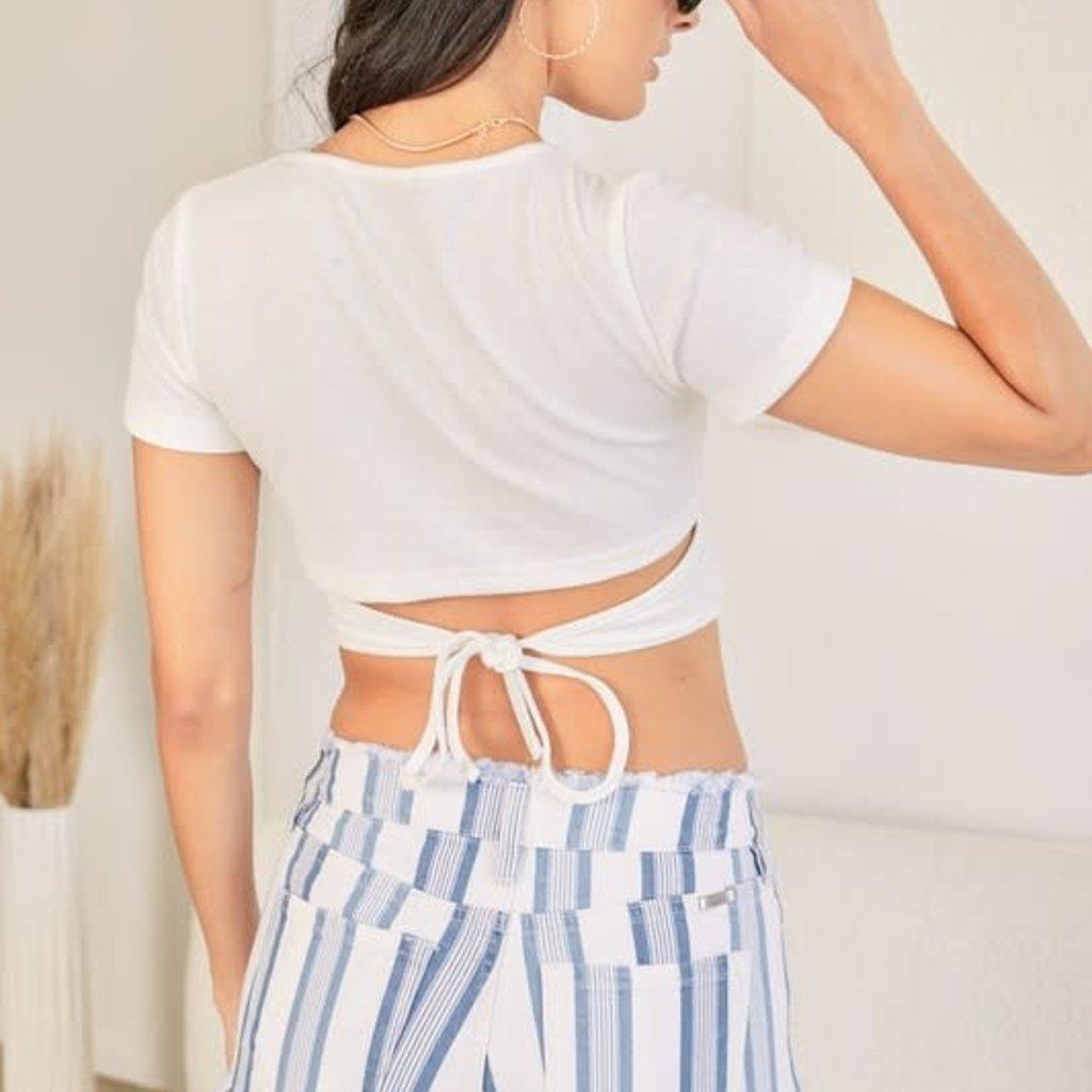 KanCan KanCan Blue Stripe Shorts
