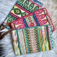 Katydid Summer Embroidered Wristlets