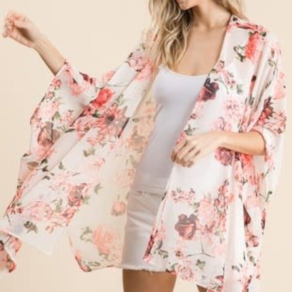 Vanilla Bay Ivory Rose Kimono