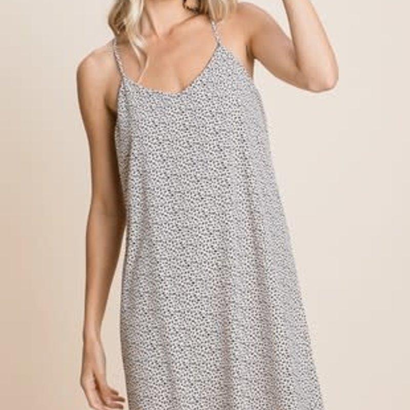 Vanilla Bay Tan Abstract Halter Dress (S-L)