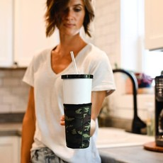 Julia Rose Cup Holder with Handles (Camo, Football, Leopard)