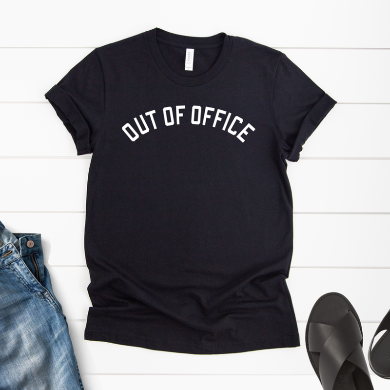 Bella Canvas Out of the Office Black Tee (S-3XL)