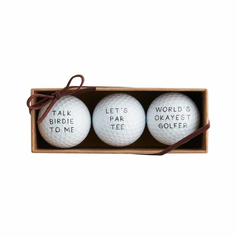 Mud Pie Mud Pie Let's Par Tee Golf Ball Set