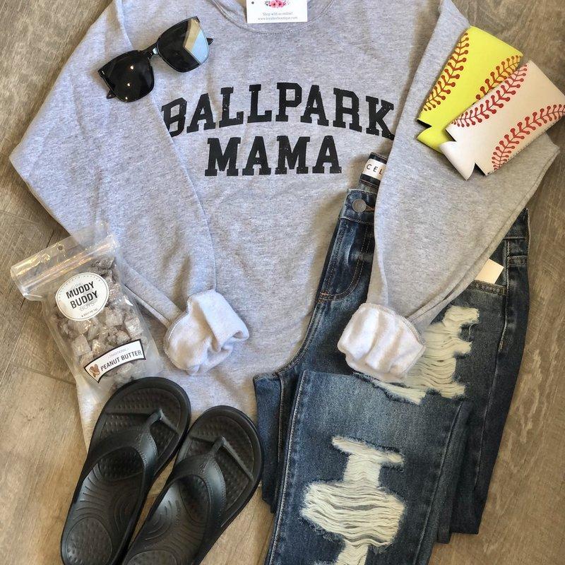 Hanes Ballpark Mama Crew (S-2XL)