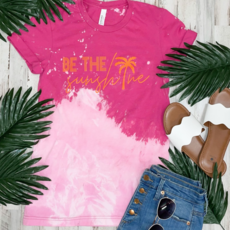 Southern Bliss Co Be the Sunshine Distressed Berry Tee (S-3XL)