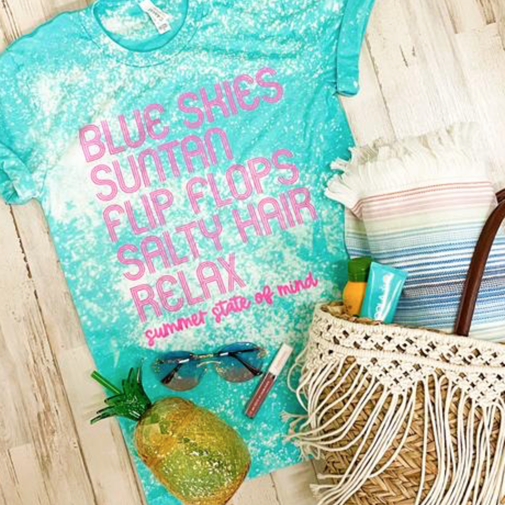 Southern Bliss Co Blue Skies Bleached Tee (S-3XL)