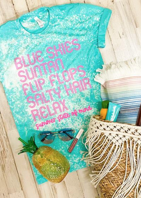 Southern Bliss Co Blue Skies Bleached Tee (3XL Only)