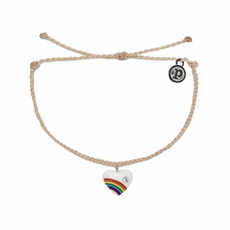 Puravida Pura Vida Vanilla Vintage Heart Charm Bracelet