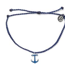 Puravida Pura Vida Navy Anchor Bracelet
