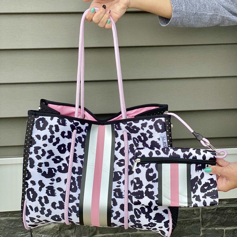 Julia Rose Pink Leopard Neoprene Beach Bum Bag
