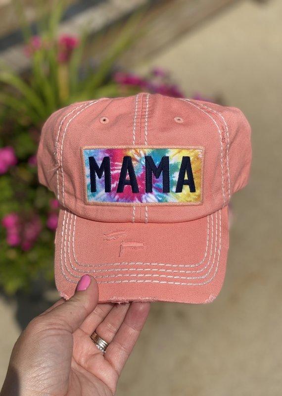 Your Fashion Wholesale Mama Tie Dye Peach Hat