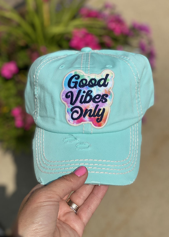 Too Too Hat Mint Good Vibes Vintage Hat