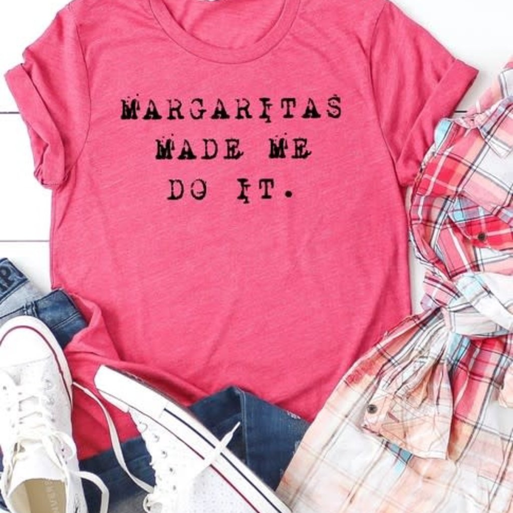 Bella Canvas Margaritas Made Me Do It Berry Tee (S-XL)