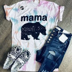 D&E Tees Mama Bear Tie Dye Tee (S-3XL)