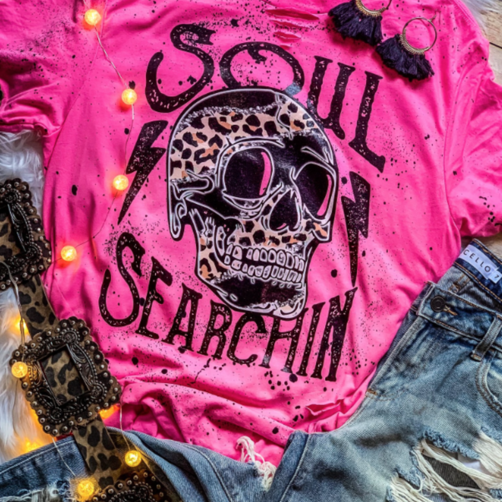D&E Tees Soul Searchin' Distressed Tee (3XL- Only)