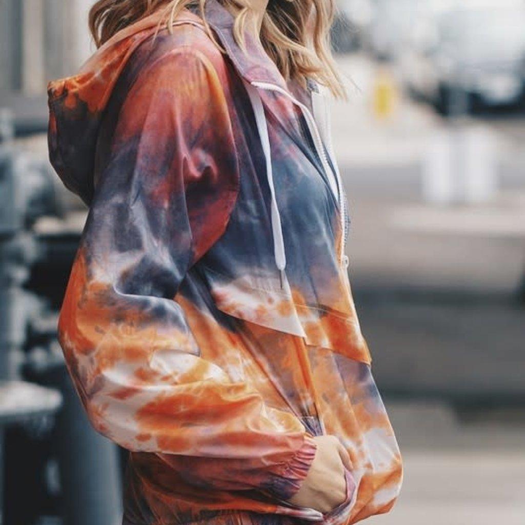 And the Why Orange Tie Dye Windbreaker (S-L)