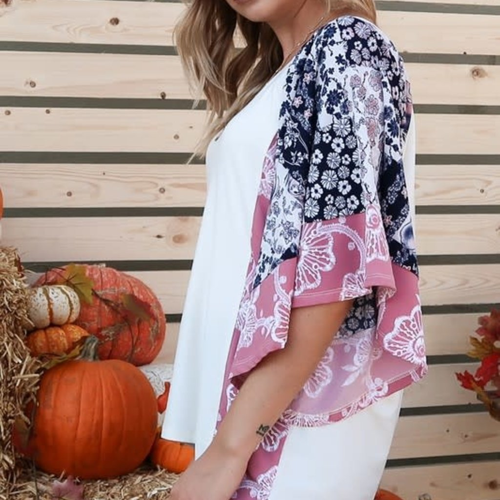 And the Why Ivory Floral Bell Sleeve Top (S-L)