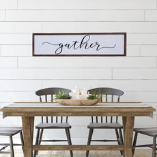 """Design Imports 24"""" x 6"""" Wooden Gather Sign"""