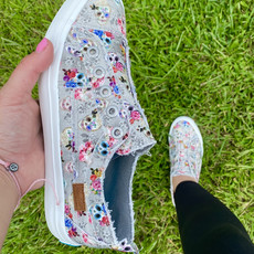 Blowfish Blowfish Gray Sugar Skull Shoes (6-11)