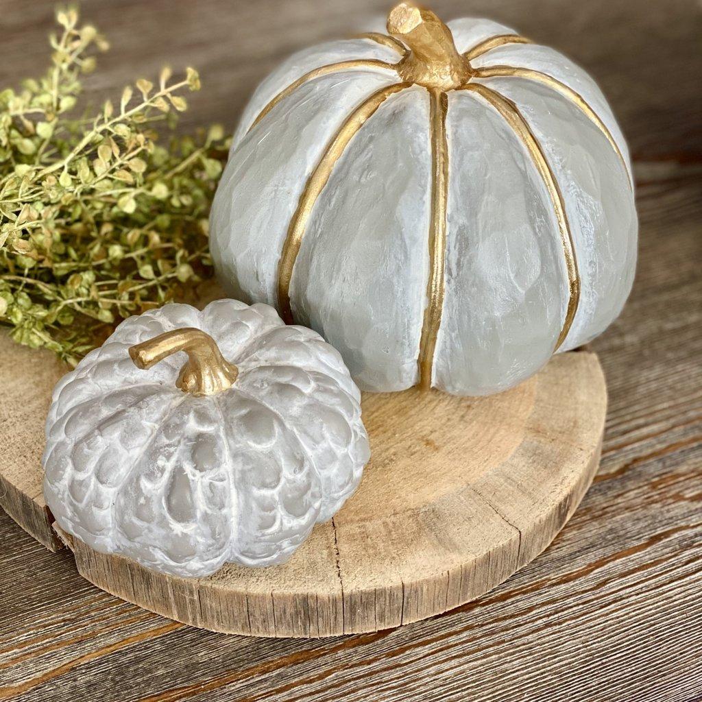 Boston International Grey & Gold Pumpkins