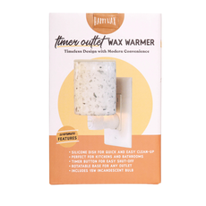 Happy Wax Grey Linen Timer Outlet Wax Warmer