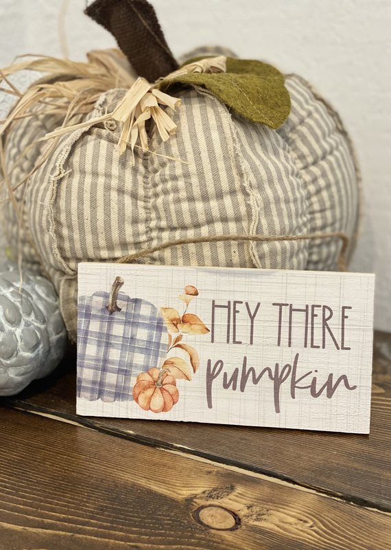 Sincere Surroundings Hey There Pumpkin Small Hanging Sign