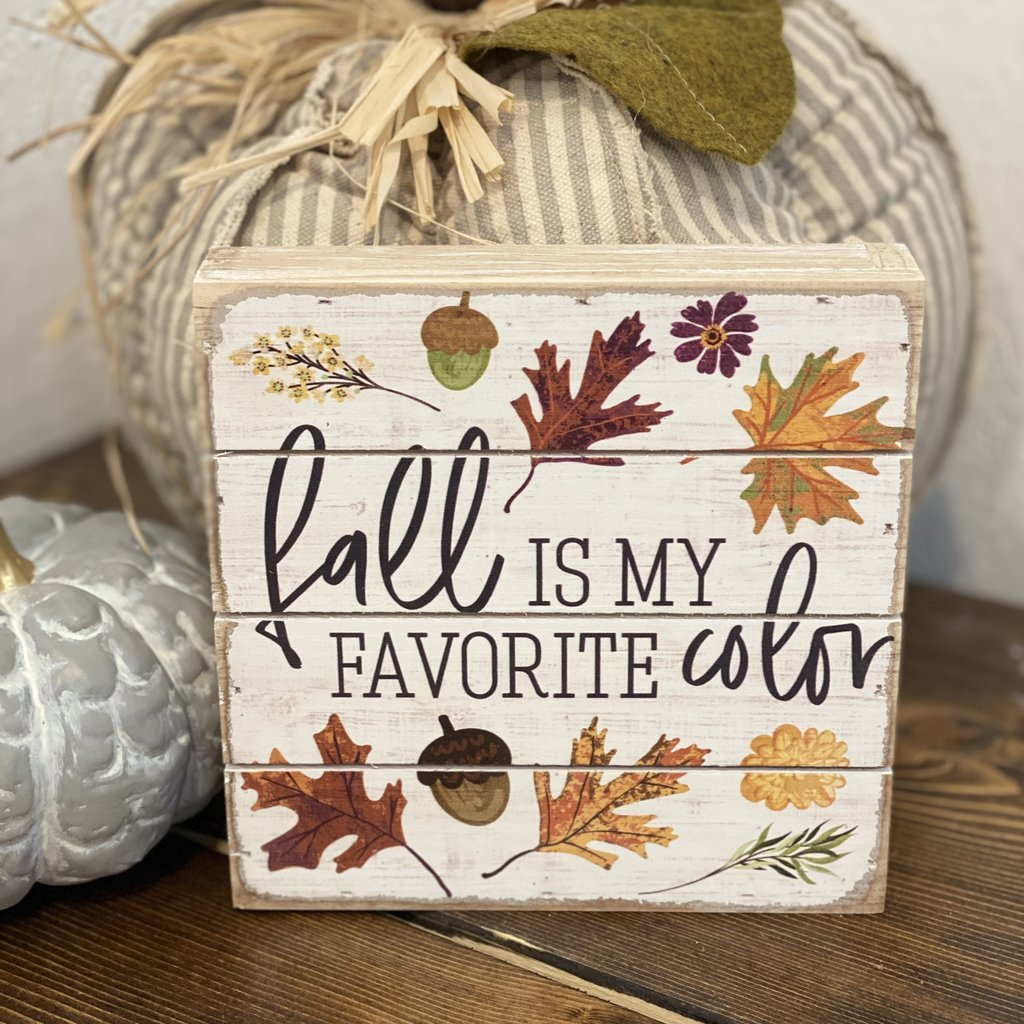 """Sincere Surroundings Wood Fall Colors Sign 6""""x6"""""""