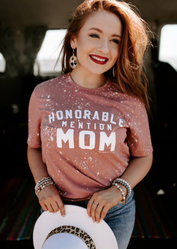 Southern Bliss Co Honorable Mention Mom Bleached Tee (S-2XL)