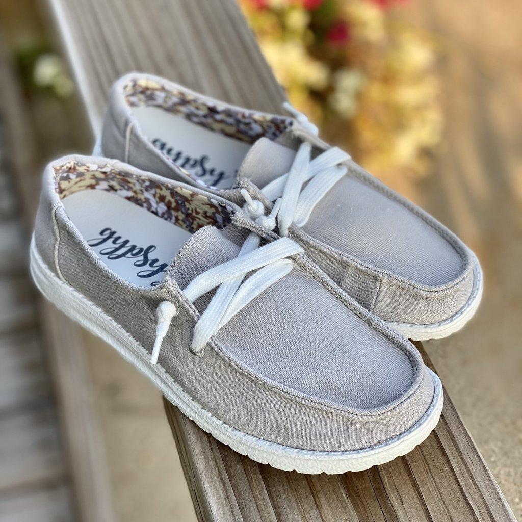 Very G Gypsy Jazz  Grey Holly Shoes (6-11)
