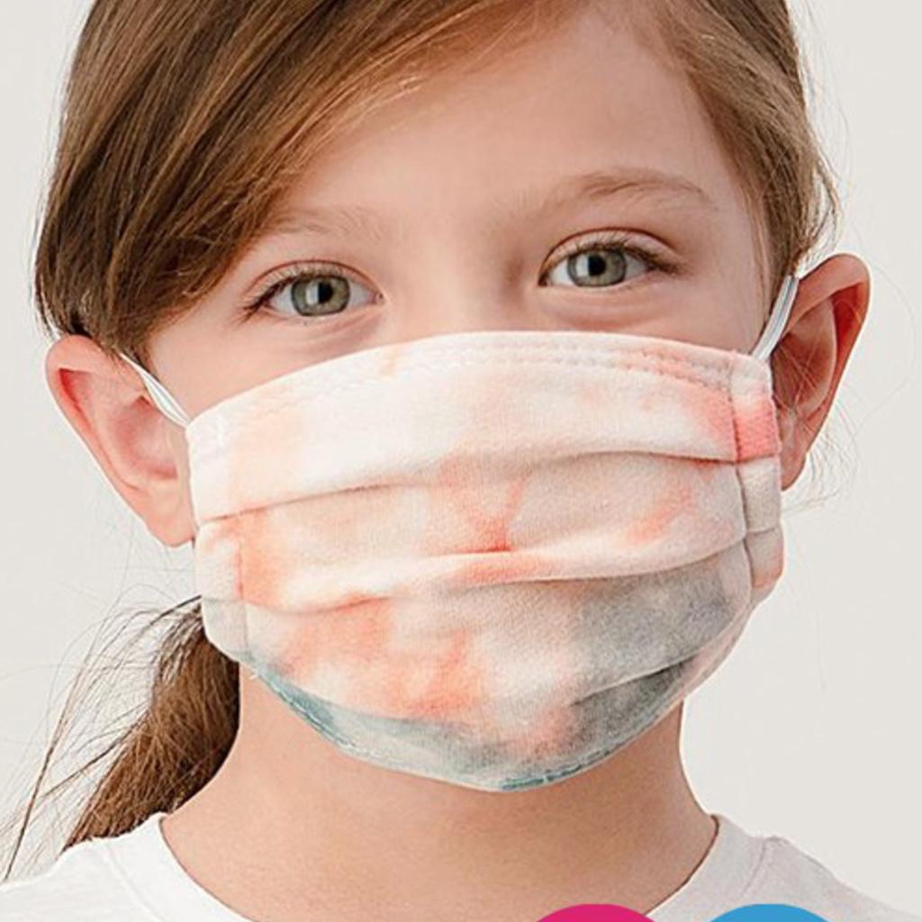 Clothing of America Kids Tie Dye Masks (8 Colors)