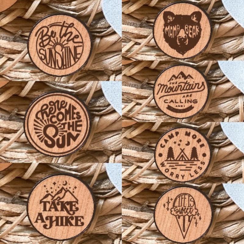 Fox & Fiddle Designs Wooden Engraved Pop Sockets