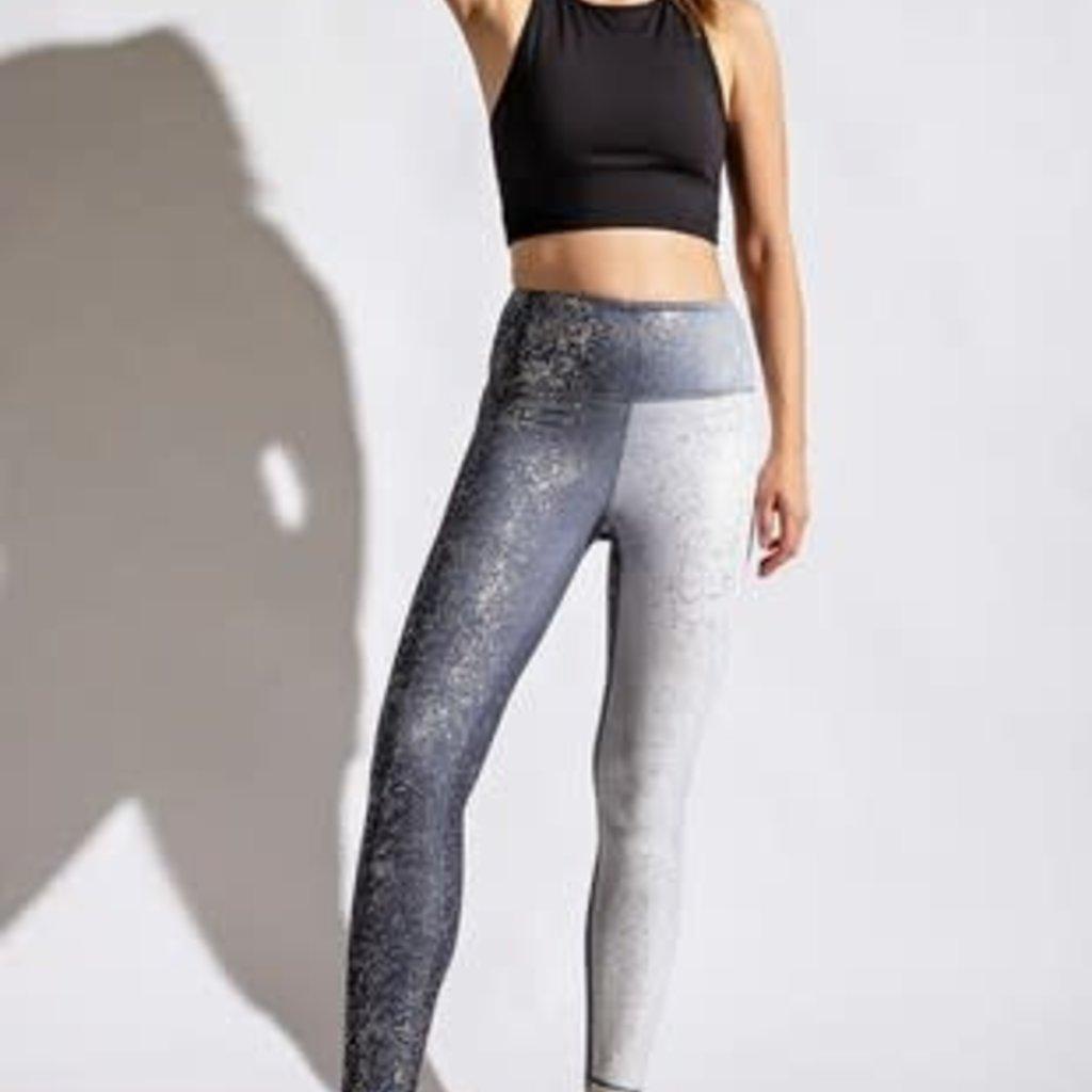 Rae Mode Black & Silver Athletic Leggings (S-3XL)