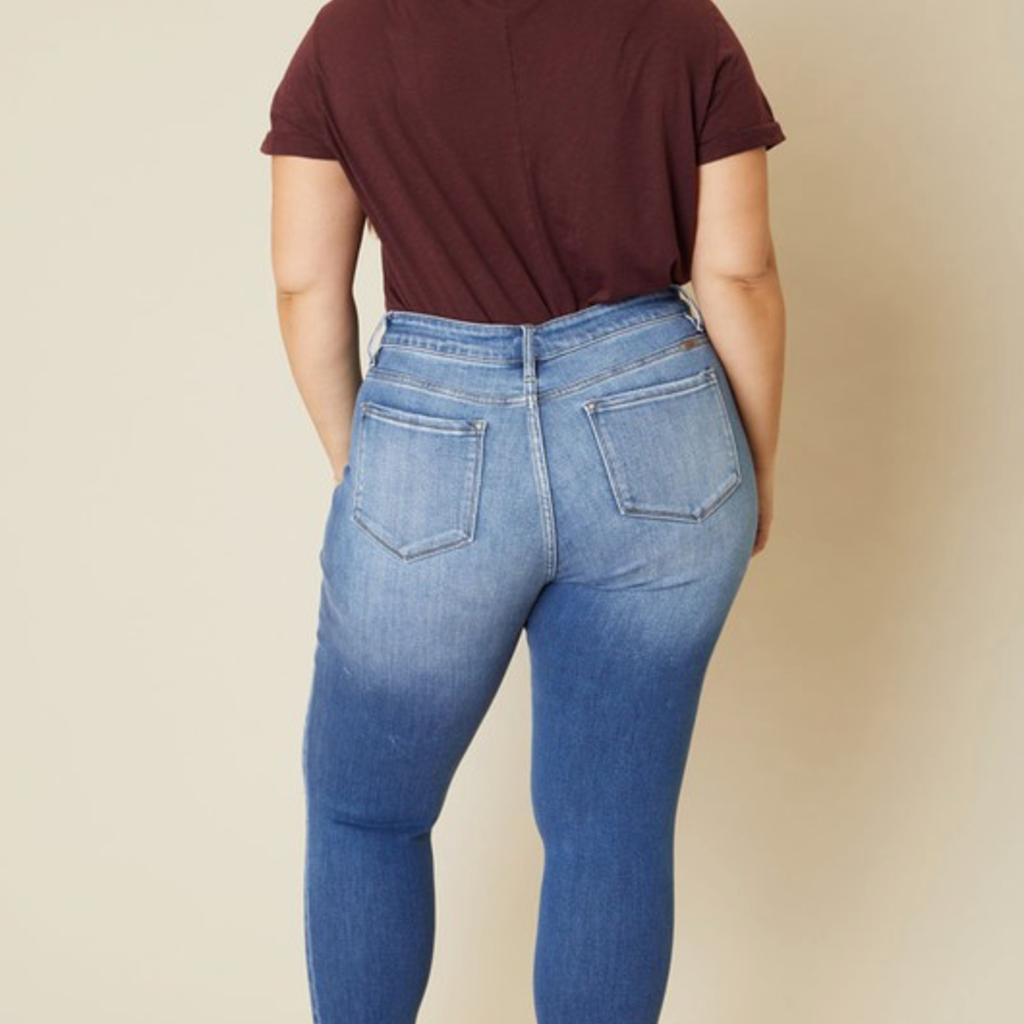 KanCan KanCan High Rise Button Skinnies (3/25-3XL)