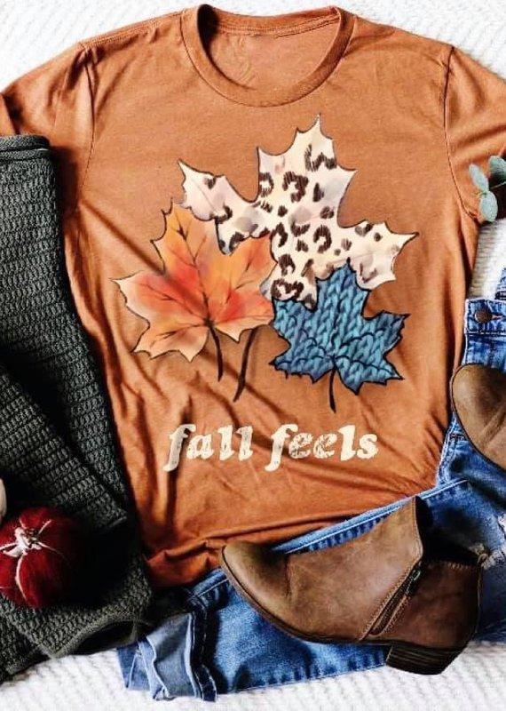 Haute Mess Orange Fall Feels Tee (S-3XL)