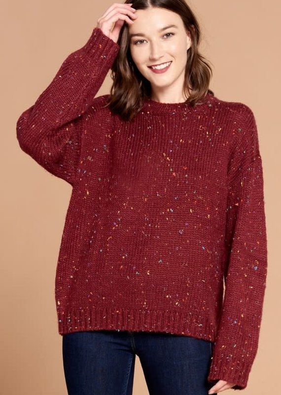 Oddi Wine Confetti Sweater (S-3XL)