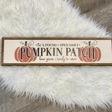 """Driftless Studios 24""""x6"""" Pumpkin Patch Sign"""