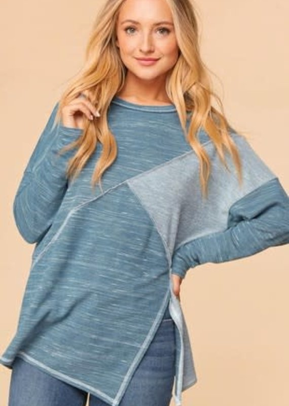 Haptics Teal French Terry Top (S-3XL)