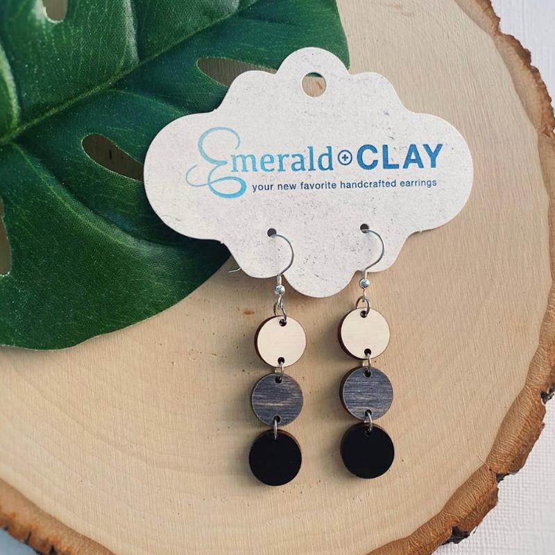 Emerald + Clay E+C Shadow Circle Earrings