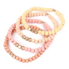 MYS Wholesale Peach Bracelet Set of 4