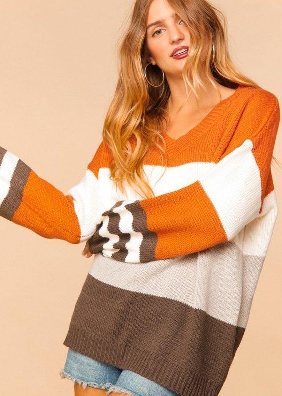 Haptics Autumn Striped Knit Sweater (S-3XL)
