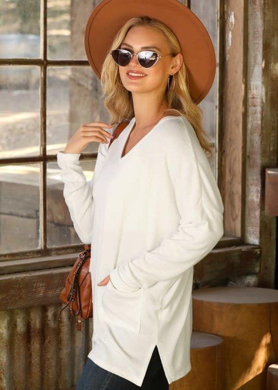 Ninexis Ivory Brushed Tunic (S-XL)