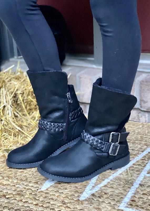 Blowfish Blowfish Kids Black Draped Boots (13-5)