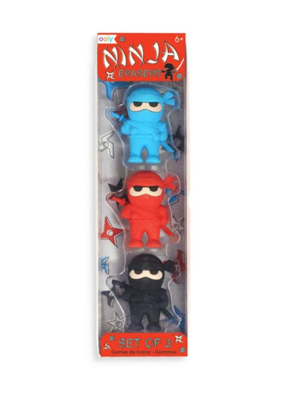 OOLY OOLY Ninja Erasers (Set of 3)