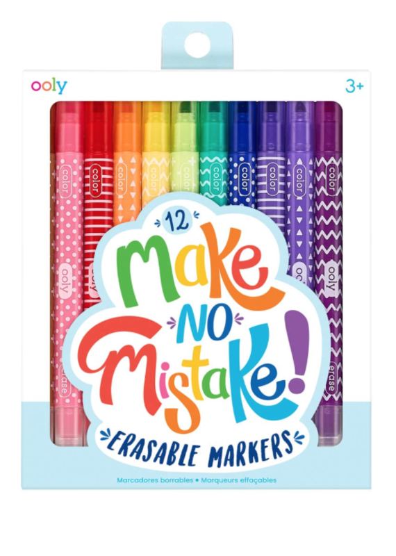 OOLY OOLY Make No Mistake Erasable Markers (Set of 6)