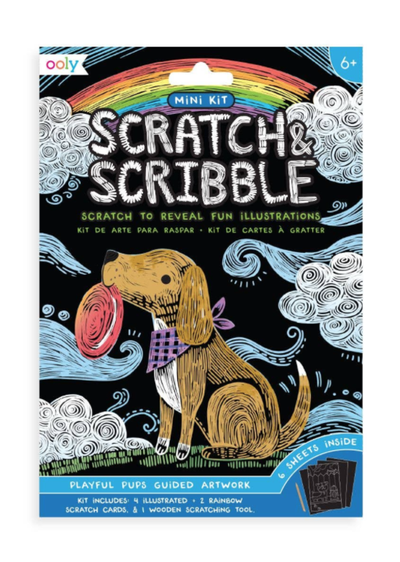 OOLY OOLY Mini Scratch & Scribble Art Kit Playful Pups