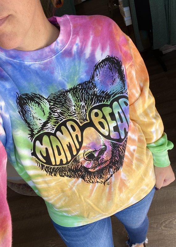 Gildan Tie Dye Mama Bear Crew (S-3XL)