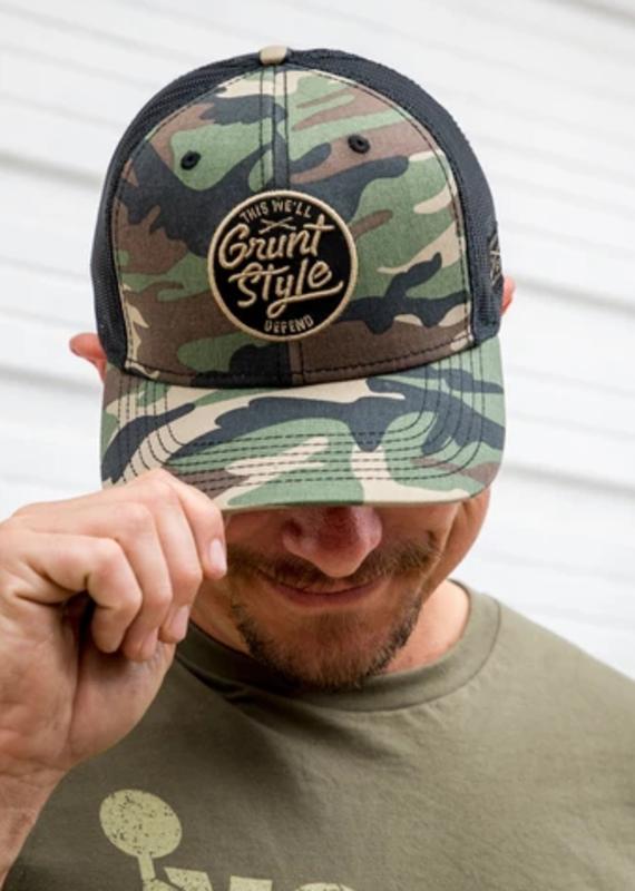 Grunt Style Grunt Style Camo Script Logo Hat